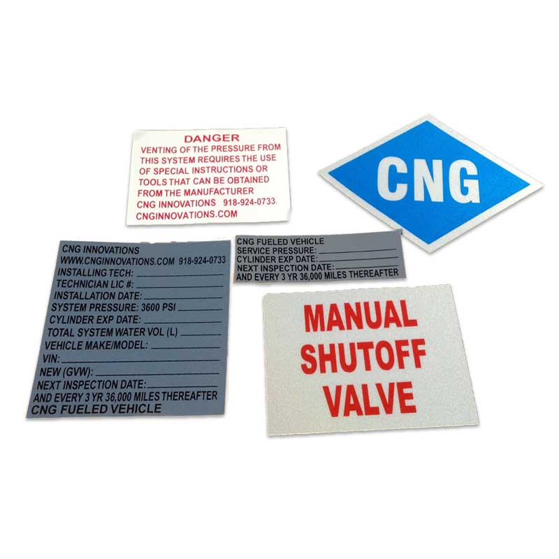 CNG NFPA 52 Compliant Stickers | Go Freedom Fuel